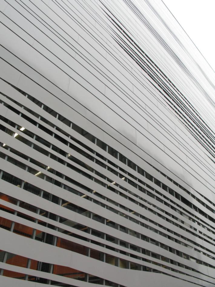 Heizkraftwerk Aachen facade, construction university of aachen project architecture photography of metal strip facade Imagine envelope facade consultants design coal plant station