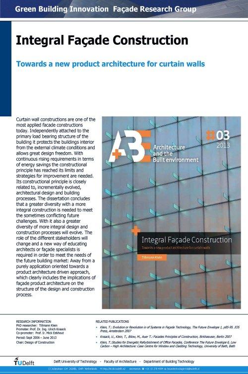 Integral Façade Construction-Tillmann Klein