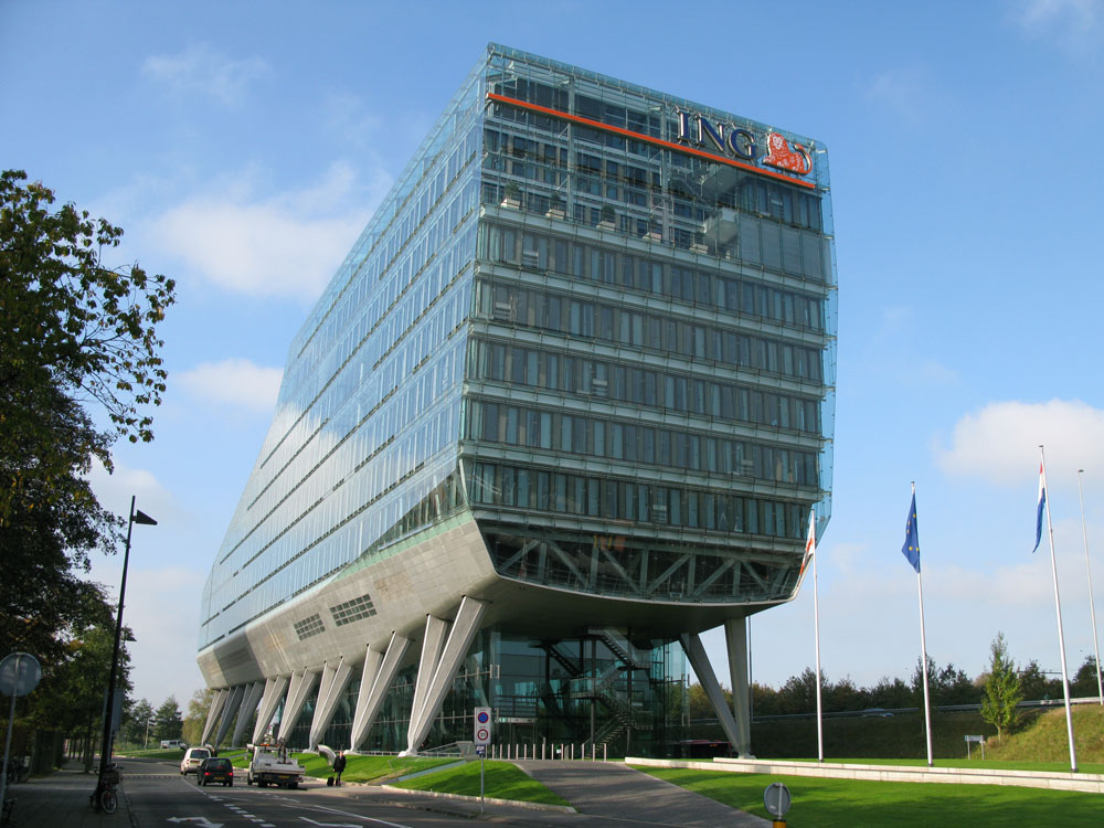 Ing Kantoor Amsterdam : Ing bank headquarters facadeworld